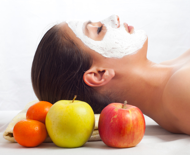 Facial fruit mask matchless