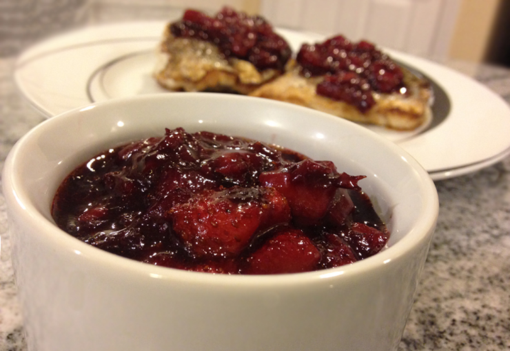 Strawberry Chipotle Chutney over Pan Seared King Whiting