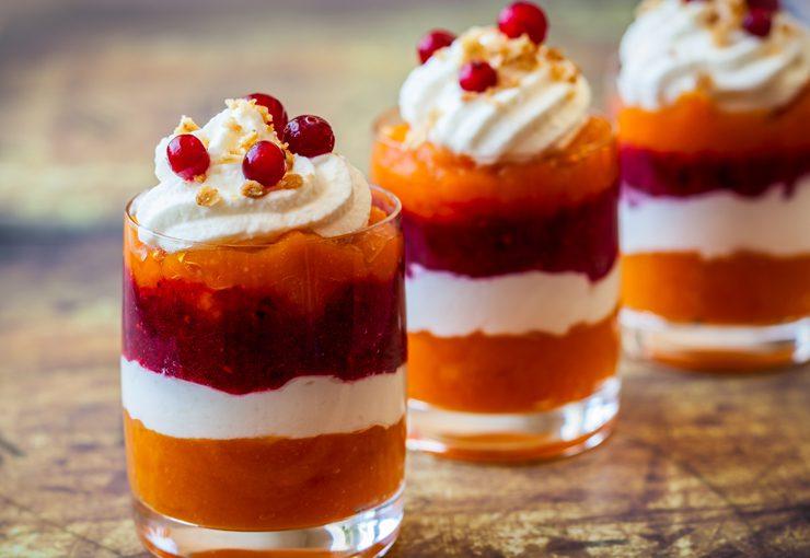 Thanksgiving dessert ideas - pumpkin cranberry trifles