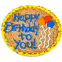 Birthday Balloons Cookie Cake 8666S