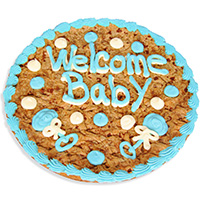 Welcome Baby Boy Cookie Cake 8669S