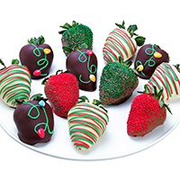 Christmas Lights Chocolate Covered Strawberries 9288S