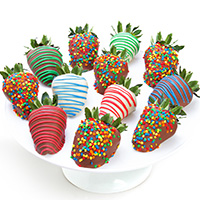 Happy Birthday Chocolate Covered Strawberries 9327S