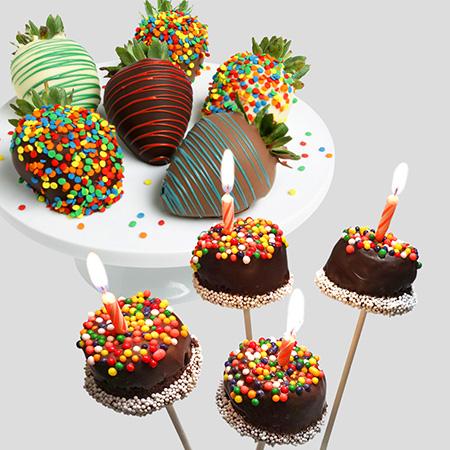Happy Birthday Strawberries Amp Brownie Pops By Strawberries Com