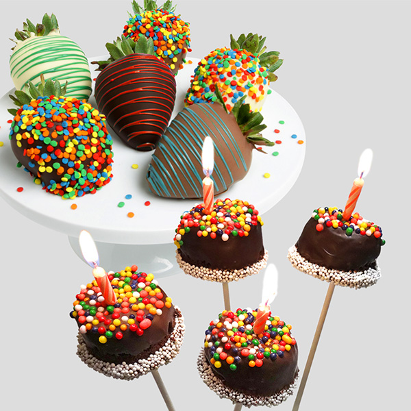 Happy Birthday Strawberries Amp Brownie Pops By Strawberries Com