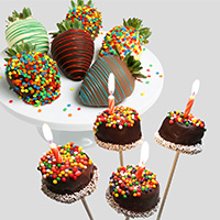 Happy Birthday Strawberries & Brownie Pops 9325S