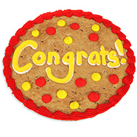 Congratulations Cookie Cake