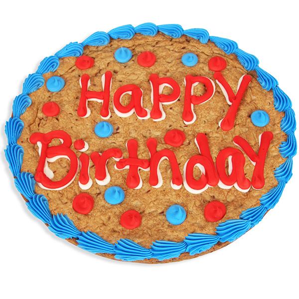 Wondrous Happy Birthday Cookie Cake By Strawberries Com Funny Birthday Cards Online Alyptdamsfinfo