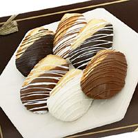 Belgian Chocolate Dipped Madeleine Cookies