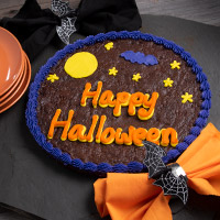 Halloween Double Chocolate Cookie Cake