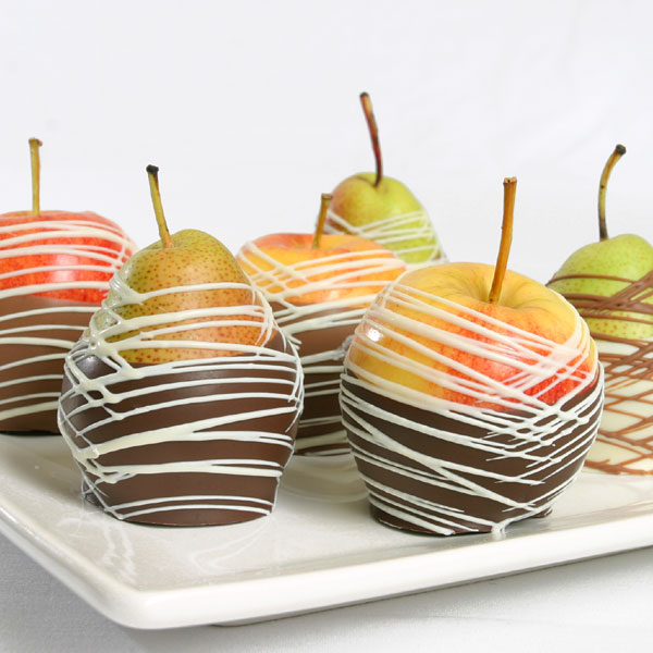 Belgian Chocolate Dipped Apples & Pears