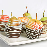 Belgian Chocolate Dipped Apples & Pears
