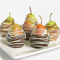 Belgian Chocolate Dipped Pears