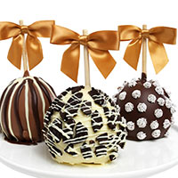 Triple Chocolate Dipped Apples