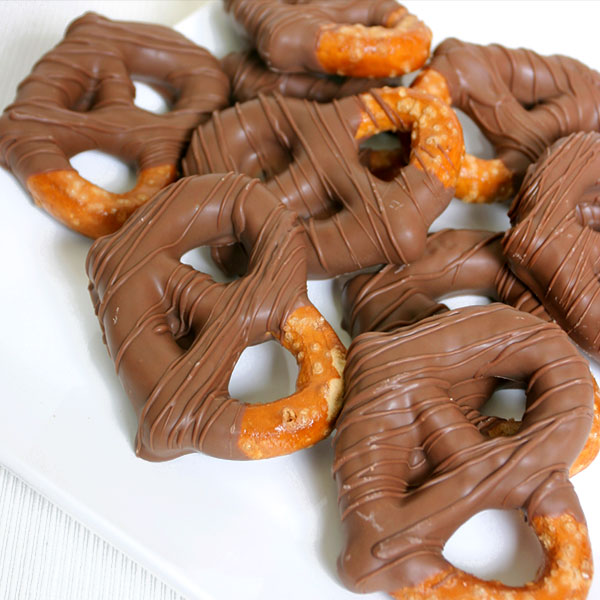 Milk Chocolate Dipped Pretzels
