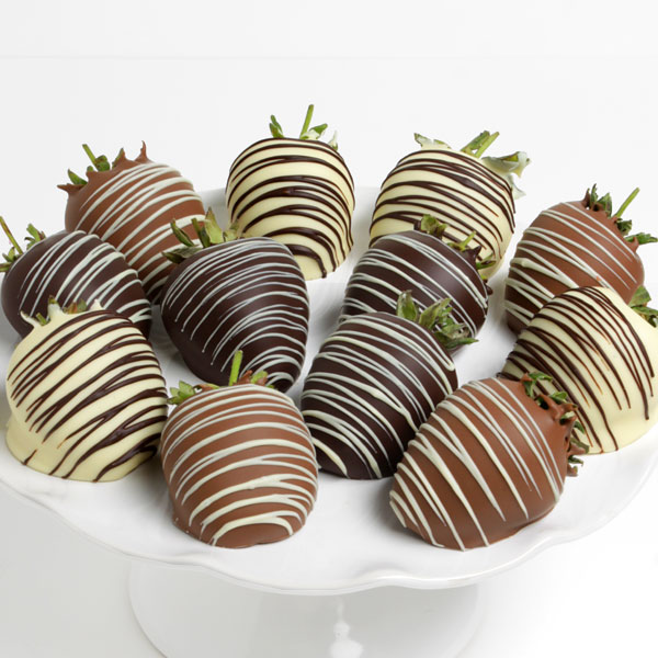 Triple Chocolate Covered Strawberries™ by Strawberries.com