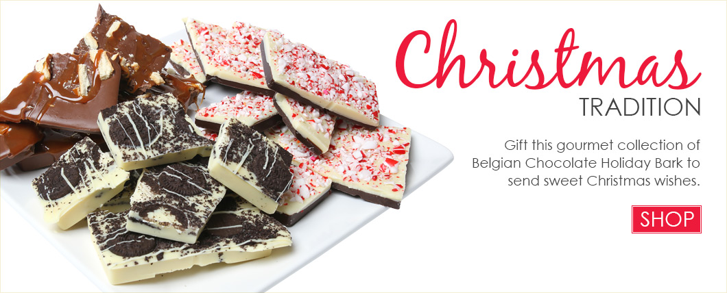 Belgian Chocolate Holiday Bark Collection